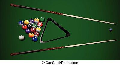 Vector realistic billiard illustration.