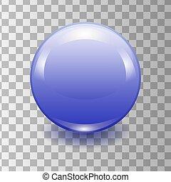 Vector realistic blue plastic button