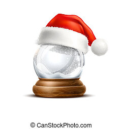 Vector realistic christmas snowglobe 3d winter toy - Vector...
