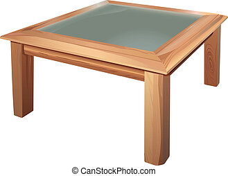 coffee table - vector realistic coffee table on white...