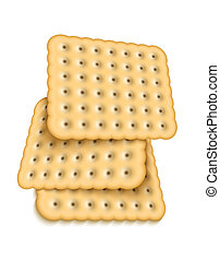 Vector realistic cookies on white background. Eps10