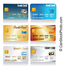 vector realistic credit cards
