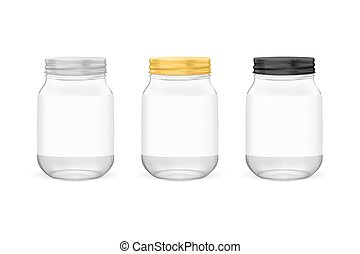 Vector realistic empty glass jar for canning and preserving ...