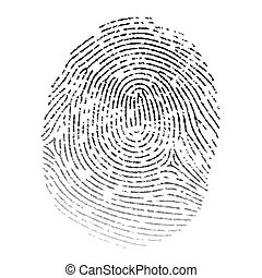 Vector realistic fingerprint