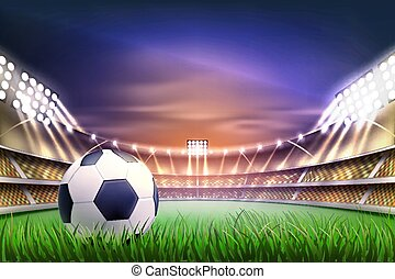 Vector realistic footbal soccer stadium background