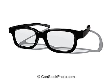Vector realistic glasses isolated on white background.