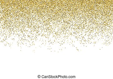 Vector realistic gold glitter particles effect - isolated shiny confetti and glitter sparkling texture. Star dust sparks in explosion on transparent background.