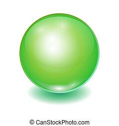 Vector realistic green multicolor ball,