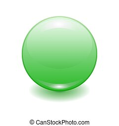 Vector realistic green plastic button