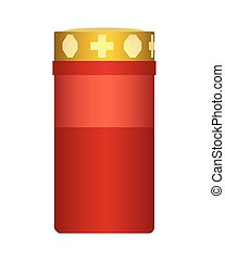 Vector realistic illustration of a burning candle suitable for the holiday of the day of all saints