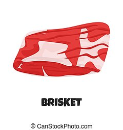 Vector Realistic Illustration of Beef Brisket - Vector ...