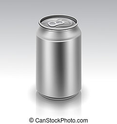 Vector Realistic Metal Can
