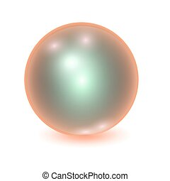 Vector realistic orange metall ball