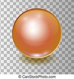 Vector realistic orange multicolor plastic ball