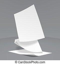 Vector Realistic Paper Sheets
