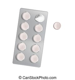 Vector realistic pill blister pack
