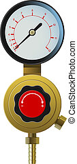 pressure controller - vector realistic pressure controller ...