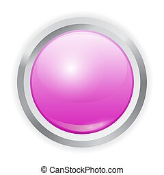 Vector realistic purple plastic button