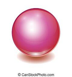 Vector realistic red multicolor ball