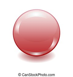 Vector realistic red plastic button