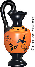 amphora - vector realistic  replica of ancient amphora