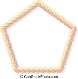 vector realistic rope frame