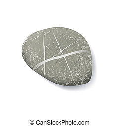 striped pebble - vector realistic striped pebble