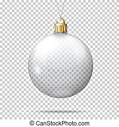 Vector realistic transparent christmas ball.