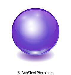 Vector realistic violet multicolor ball