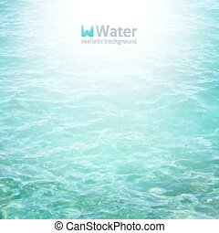 vector realistic water background in turquoise color