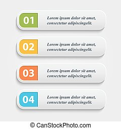 Vector realistic Web buttons, banner, infographic