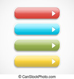 Vector realistic Web buttons