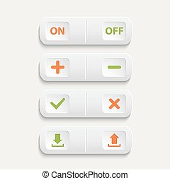 Vector realistic white web buttons