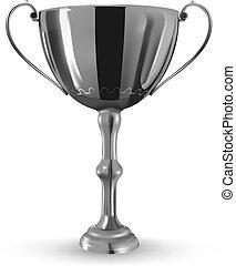 winner goblet - vector realistic winner goblet on white ...