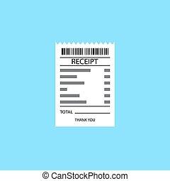Vector receipt icon - Receipt vector icon in a flat style....