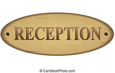 Vector reception sign