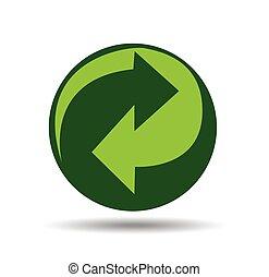 vector, reciclaje, señal
