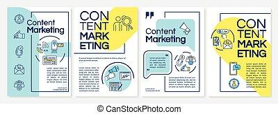 vector, reclame, inhoud, vs, blaadje, ontwerp, affiches, ...