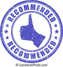 Vector recommended stamp