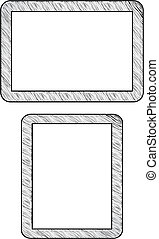 Vector rectangle hand drawing black frames