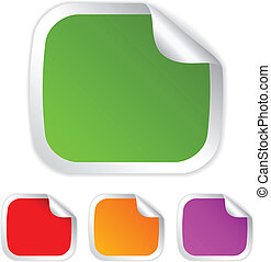 Vector rectangle stickers set