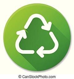 Vector recycle green circle icon design