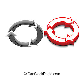 vector recycle icon design