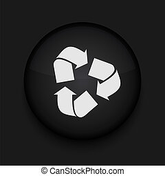 Vector recycle icon. Eps10. Easy to edit