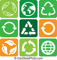 Vector recycle signs and symbols