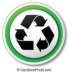 Vector recycle symbol icon