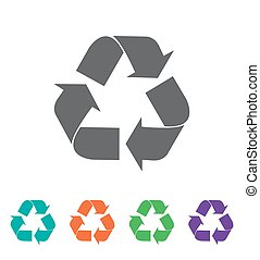 vector recycle symbol. recycle vector icon.