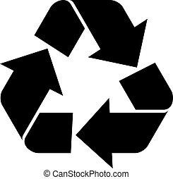 vector, recycleren symbool