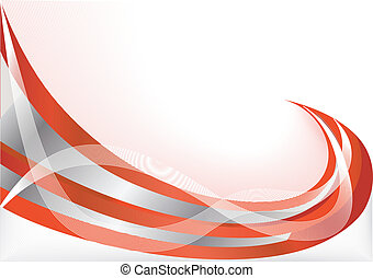 Vector red abstract background