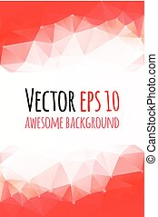 Vector red abstract background for banners design